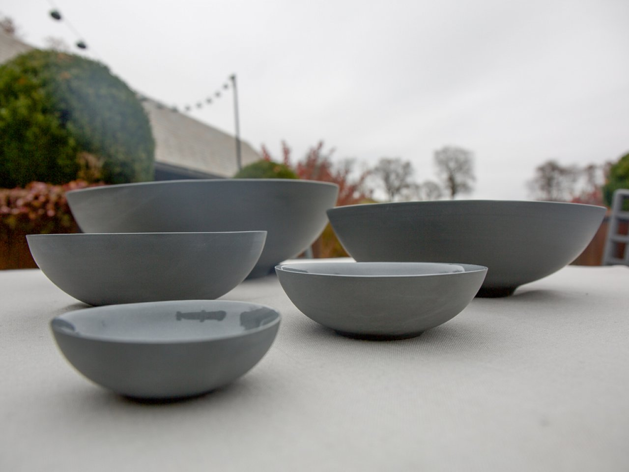 Nesting Porcelain Bowls - Set of 5