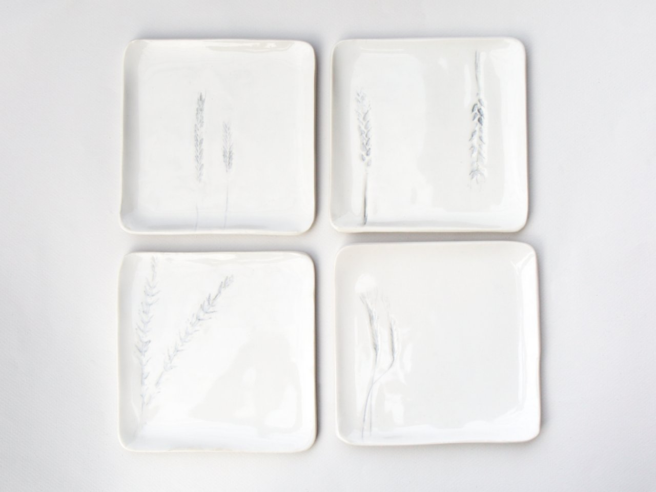 Grain B&B Plates - Set of 4 (Blue Hill Exclusive)