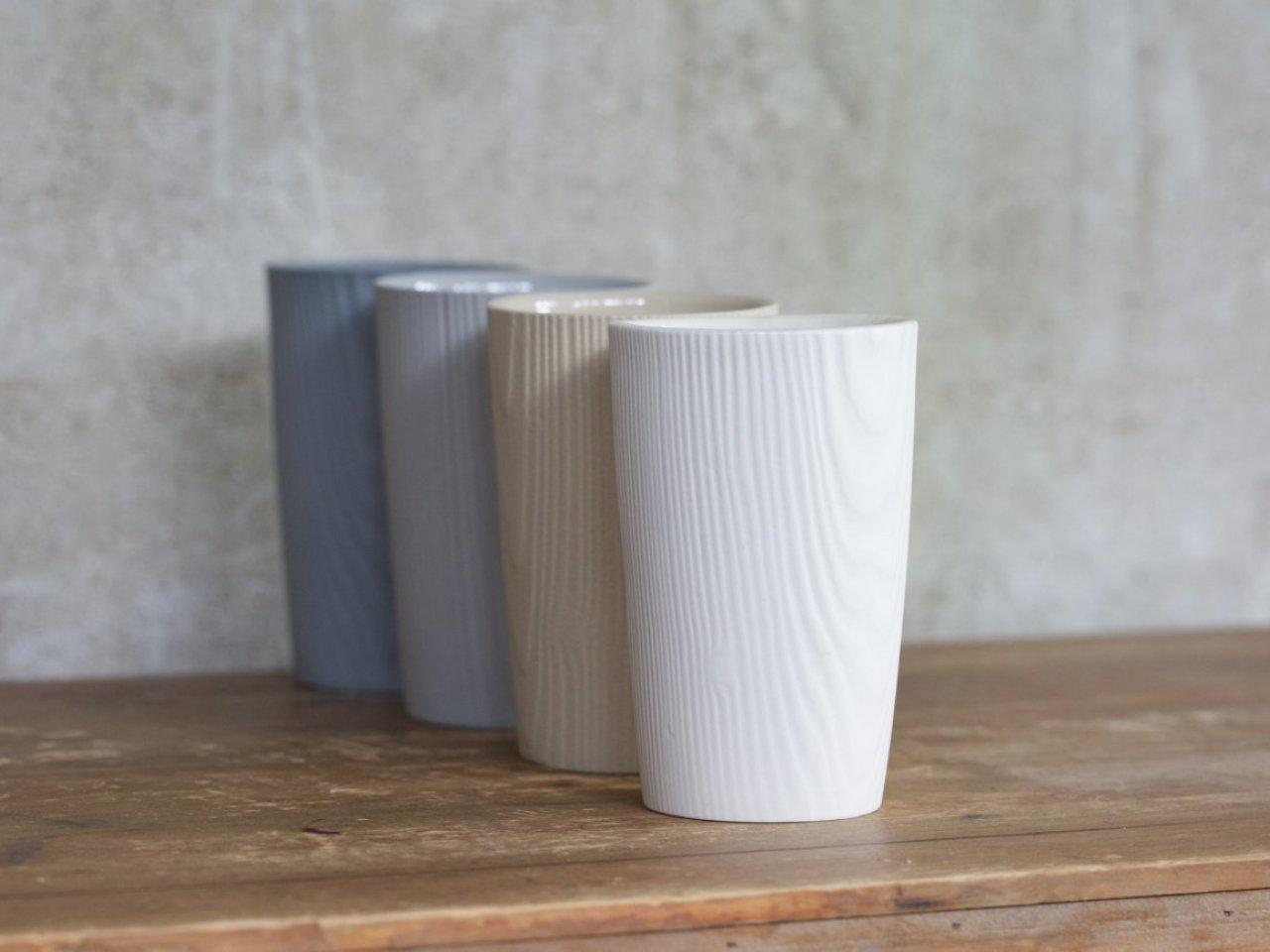 Wood Grain Cups - Set of 4