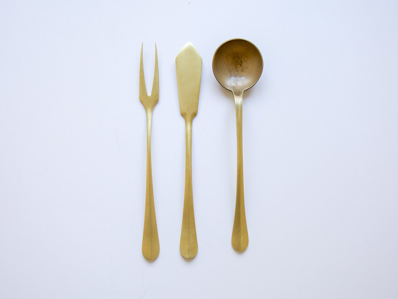 Brass Serving Trio