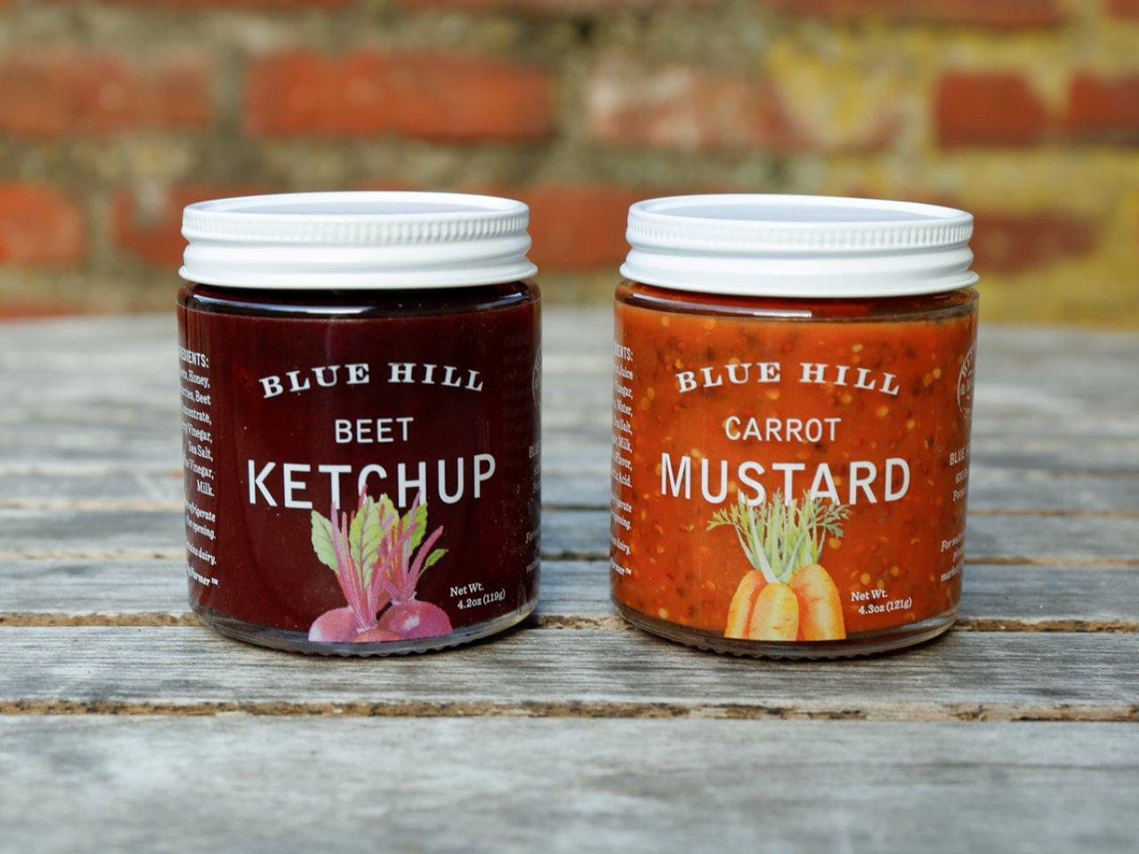Blue Hill Ketchup & Mustard Set